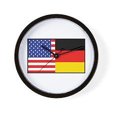 USA/Germany Wall Clock