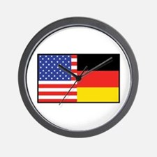 USA/Germany Wall Clock