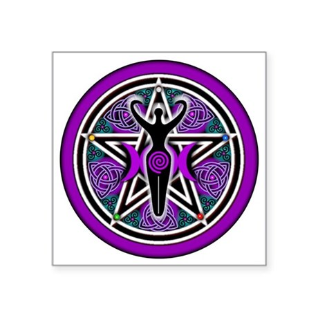 Purple-Teal Goddess Pentacle-transparent 3&quo