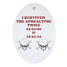 Apocalypse Twice Ornament (Oval)
