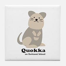 Quokka v.2 Tile Coaster