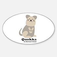 Quokka v.2 Sticker (Oval)