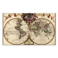 Map of the world, 1720 - Decal