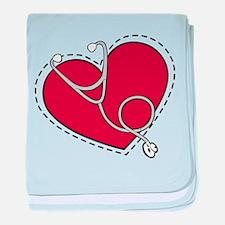 Heart Doctor baby blanket