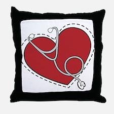 Heart Doctor Throw Pillow