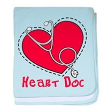 Heart Doc baby blanket