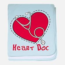 Heart Doc baby blanket