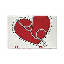 Heart Doc Rectangle Magnet
