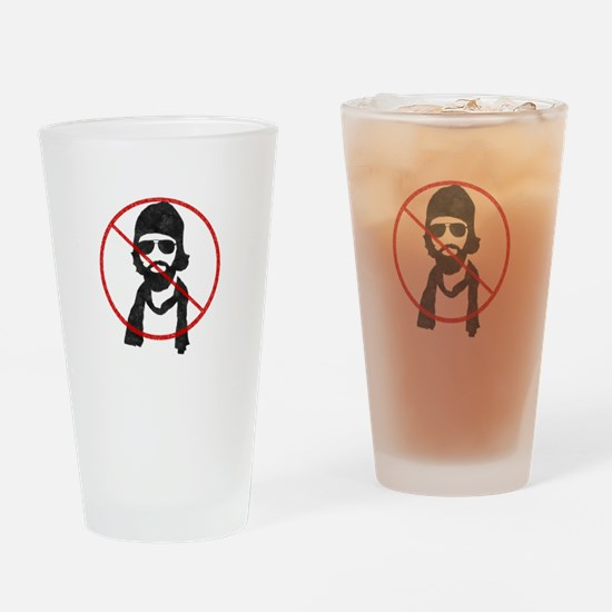 Anti-Hipster Boy Drinking Glass