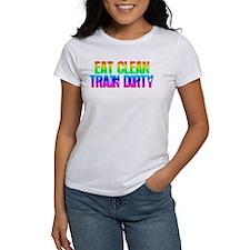 Eat Clean Train Dirty [Rainbow] Tee