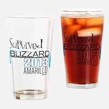 Survived Blizzard 2013 Amarillo Drinking Glass