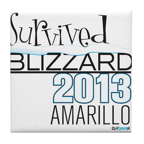 Survived Blizzard 2013 Amarillo Tile Coaster