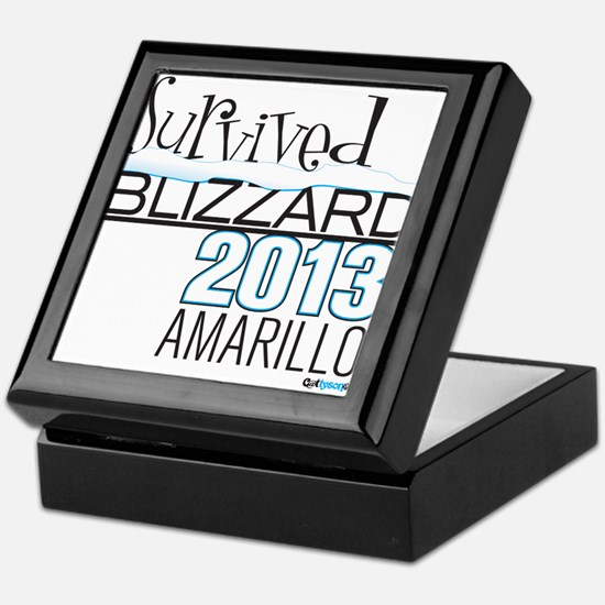 Survived Blizzard 2013 Amarillo Keepsake Box