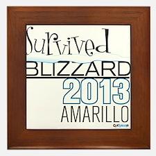 Survived Blizzard 2013 Amarillo Framed Tile
