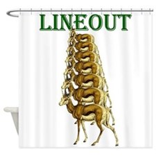 Springbok Rugby Lineout Shower Curtain