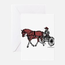 Harness Horse Greeting Cards (Pk of 10)