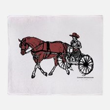Harness Horse Throw Blanket