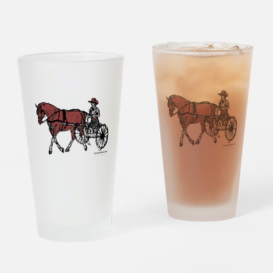 Harness Horse Drinking Glass