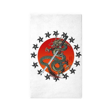 Dragon katana 2 3'x5' Area Rug
