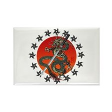 Dragon katana 2 Rectangle Magnet