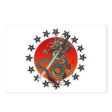 Dragon katana 2 Postcards (Package of 8)