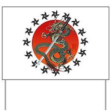 Dragon katana 2 Yard Sign
