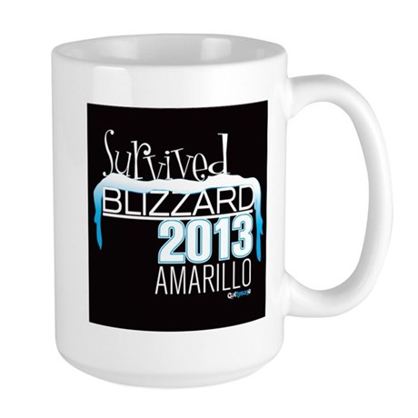 Survived Blizzard 2013 Amarillo - black Mug