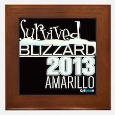 Survived Blizzard 2013 Amarillo - black Framed Til