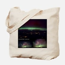 Aurora Borealis from Earth and space - Tote Bag