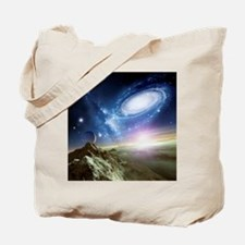 Colliding galaxies, artwork - Tote Bag