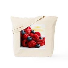 Blueberries and raspberries - Tote Bag