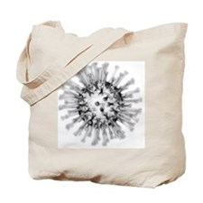 H1N1 flu virus particle, artwork - Tote Bag