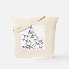 Dextromethorphan drug molecule - Tote Bag