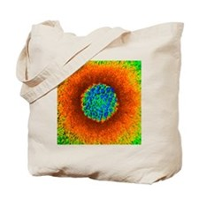 Herpes virus particle, 3D SEM model - Tote Bag