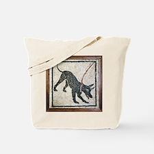 Roman guard dog mosaic - Tote Bag