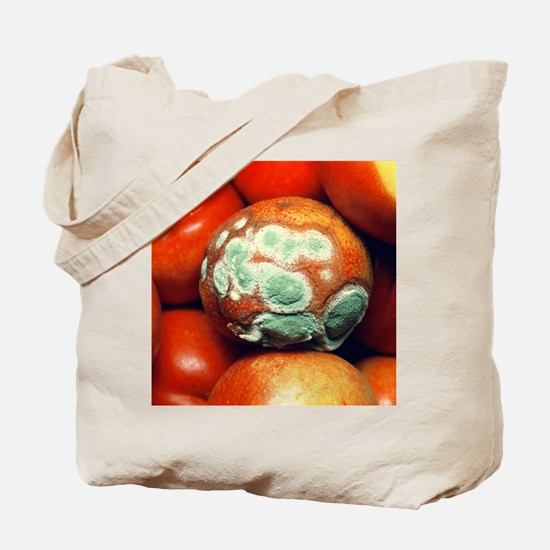 Nectarine covered in fungal growth - Tote Bag
