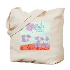 Human immune response, artwork - Tote Bag