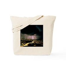 Lightning storm over Tucson, Arizona - Tote Bag