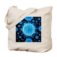 HIV virus particles, artwork - Tote Bag