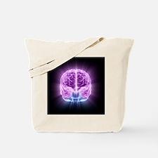 Human brain,computer artwork - Tote Bag