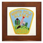 North Pole Police Framed Tile