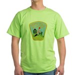 North Pole Police Green T-Shirt