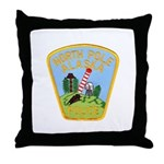 North Pole Police Throw Pillow