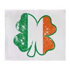 Clover Ireland Flag Throw Blanket