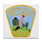 North Pole Police Tile Coaster