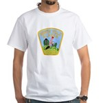 North Pole Police White T-Shirt