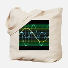 Sound wave, computer artwork - Tote Bag
