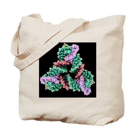 Self-assembled 3D DNA crystal - Tote Bag