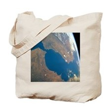 Strait of Gibraltar, satellite image - Tote Bag
