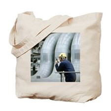 Worker in a power station - Tote Bag